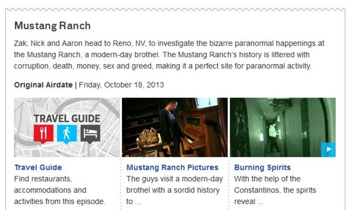 Mustang Ranch : Ghost Adventures : Travel Channel | Sex Work | Scoop.it