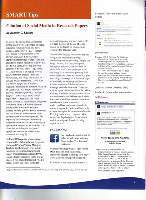 Citation of Social Media in Research Papers | Social Media for Higher Education | Scoop.it