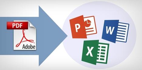 Convierte rápido y en línea PDF a otros formatos | Las TIC en el aula de ELE | Scoop.it