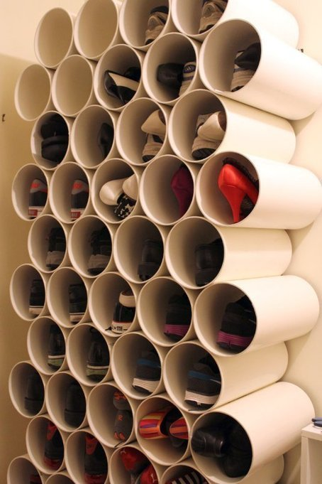 PVC pipe shoe rack   Formidable ideas   Scoop.it