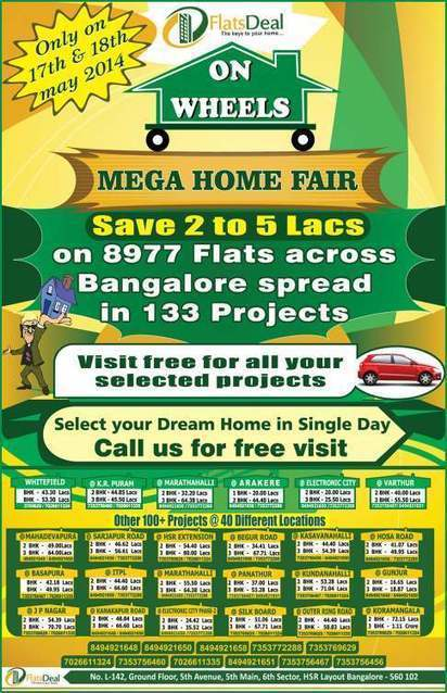 Apartments for sale in Bangalore on Mega Home fair by FlatsDeal | PRLog | FlatsDeal | Scoop.it