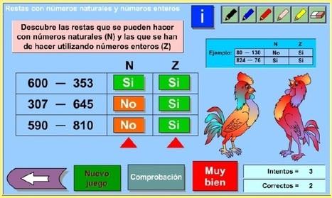 Restas con números naturales y números enteros - genmagic | Matemáticas divertidas 1ºESO | Scoop.it