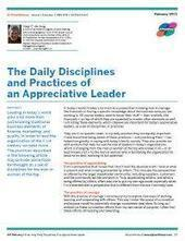 The Daily Disciplines and Practices of an Appreciative Leader | Art of Hosting | Scoop.it