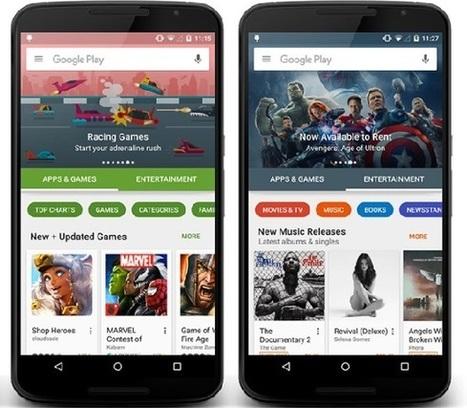 Android : un nouveau design pour le Google Play | Clic France | Scoop.it