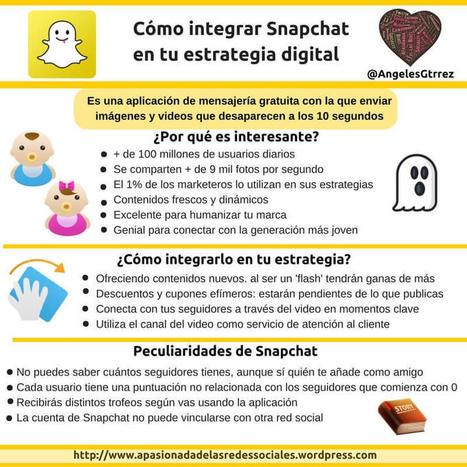 Qué es Snapchat y cómo integrarlo en tu estrategia digital | Educacion, ecologia y TIC | Scoop.it