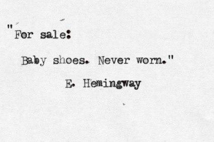 A Six Word Short Story by Ernest Hemingway | Digital Education | Scoop.it