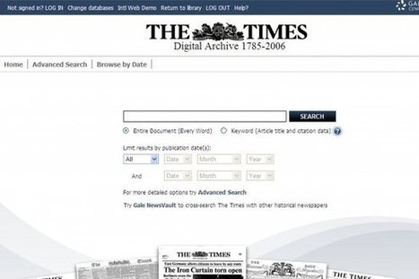 Lancashire Council libraries widen access through online memberships providing 24/7 access to The Times Digital Archive » Education » 24dash.com | Digitization&Metadata | Scoop.it