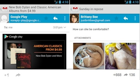 Android Jelly Bean and Ice Cream Sandwich get Gmail update | Mobile & Technology | Scoop.it