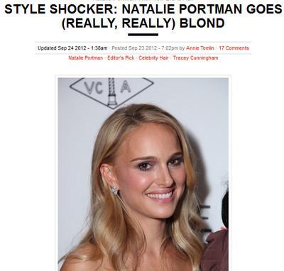 Natalie Portman con i capelli biondi   Quotidiano Online!   Scoop.it