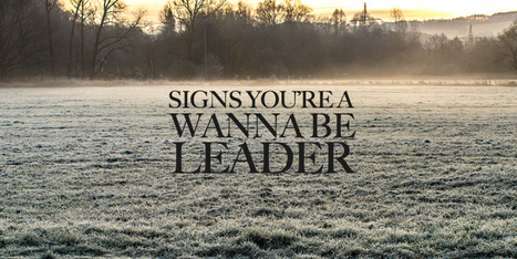 Don't fall into this trap: 5 Signs Youre Just A Wanna Be Leader | Assistant Principal | Scoop.it