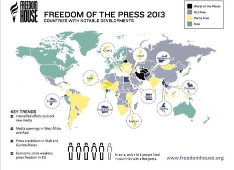 Seis países latinoamericanos no tienen prensa libre, según Freedom House | Viajes y cultura | Scoop.it