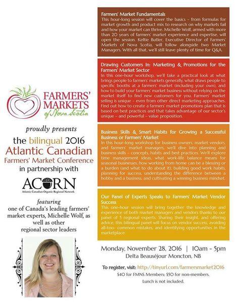 2016 Atlantic Canadian Farmers' Market Conference | NovaScotia News | Scoop.it