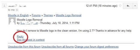 Coming soon: replying to forums directly from email | Moodle and Web Stuff | Scoop.it