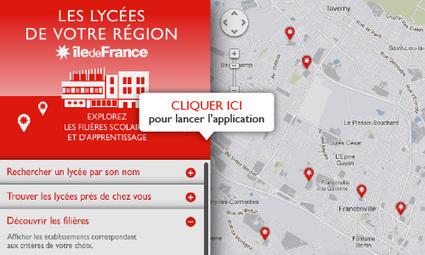 Cartolycées, une appli pour choisir son orientation - Conseil régional d'Île-de-France | Orientation, insertion, formation professionnelle | Scoop.it