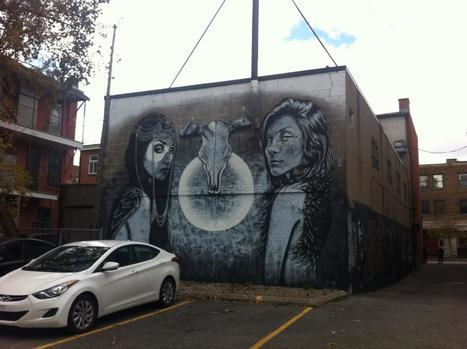 Two looks and the moon | Street Art in Montreal | Scoop.it
