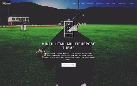 Minth Bootstrap HTML5 Multipurpose Website Temp... | Collection of creative themes and templates. | Scoop.it