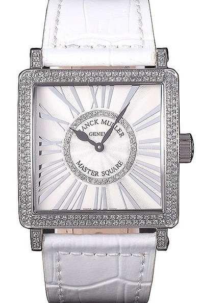 Replica Franck Muller Master Square White Dial Diamond Encrusted Stainless Steel Bezel Watch | Men's & Women's Replica Watches Collection Online | Scoop.it
