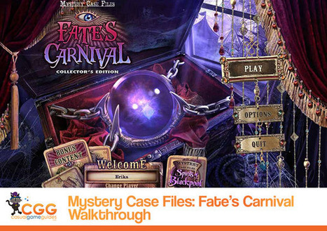 Mystery Case Files: Fate's Carnival Walkthrough: From CasualGameGuides.com | Casual Game Walkthroughs | Scoop.it