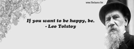 Facebook Cover Image - Happy Quote From Leo Tolstoy - TheQuotes.Net | Facebook Cover Photos | Scoop.it
