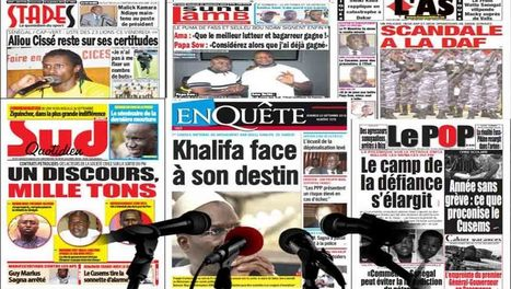 Sénégal-Presse-Revue - Une diversité de sujets alimente les quotidiens   SEN360.FR   Actualité au Sénégal   Scoop.it