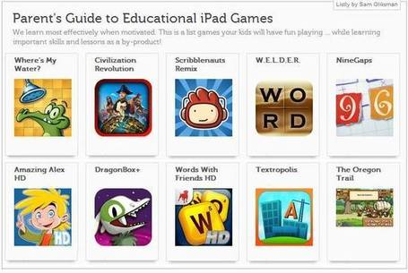 A Parent's Guide to Educational iPad Games - iPads in Education | Alive and Learning | Scoop.it
