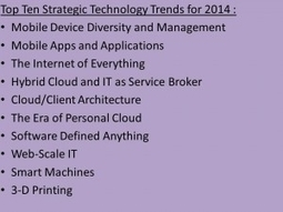Gartner: Top 10 Strategic Technology Trends For 2014 | 4D Pipeline - trends & breaking news in Visualization, Virtual Reality, Augmented Reality, 3D, Mobile, and CAD. | Scoop.it