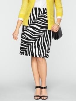 Cotton Zebra-Print Pencil Skirt | Gentleman | Scoop.it