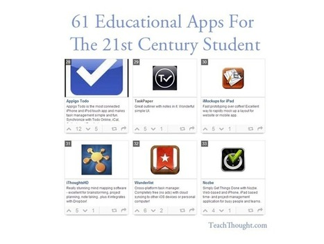 61 Educational Apps For The 21st Century Student ~ TeachThought | webtools | Scoop.it