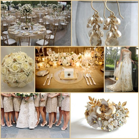 Wedding Colour Trends: Gold, Ivory & White | Your wedding in France... | Scoop.it