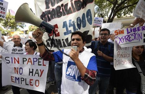 Les employés de journaux vénézuéliens  veulent du papier | DocPresseESJ | Scoop.it