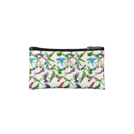 I Love Parrots Bagettes Bag Cosmetic Bag from Zazzle.com | Messenger Bags, Purses & Totes | Scoop.it