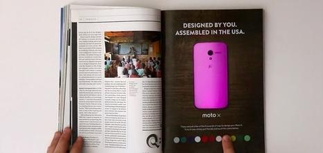 Motorola crée le premier print interactif capable de changer de couleur | E Marketing : Innovation des marques | Scoop.it