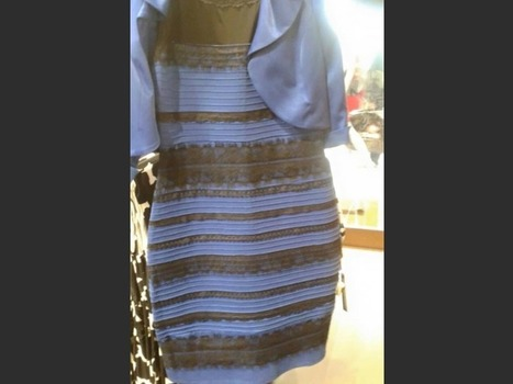 La robe bleue et noire : illusions d'optiques : quand les couleurs nous trompent | Science | Scoop.it