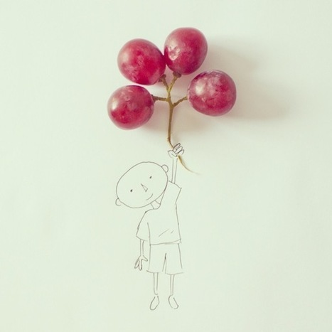 Imaginative Photographs That Mix Ordinary Objects and Simple Sketches | @FoodMeditations Time | Scoop.it