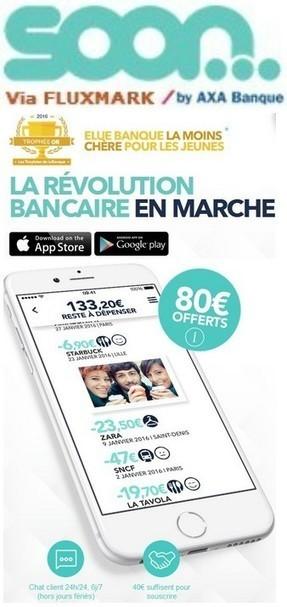 SOON Fr 2016 by AXA Banque - Compte courant gratuit ,Services bancaires et Carte Visa gratuits | Logiciel Gratuit Licence Gratuite | Scoop.it