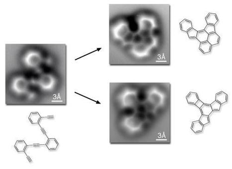 First-ever high-resolution images of a molecule as it breaks and reforms chemical bonds   Amazing Science   Scoop.it