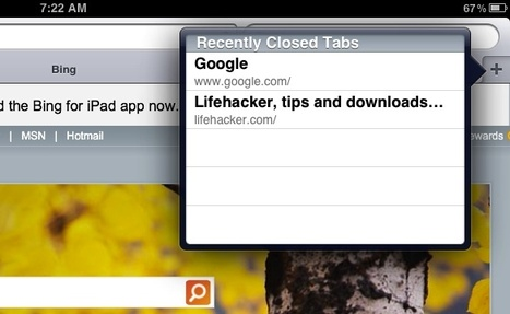 Re-Open Closed Browser Windows in Safari for iPad | iPad and Apps | Scoop.it