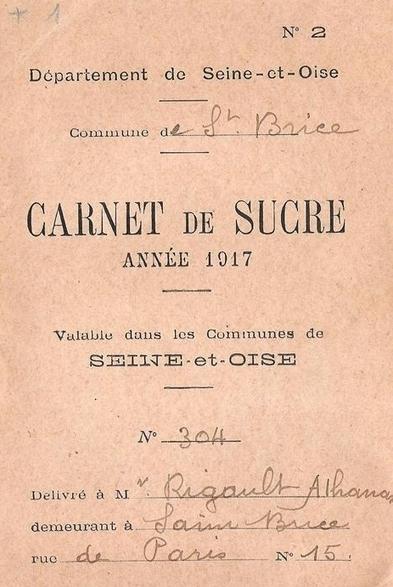 Une source peu commune : un carnet de rationnement du sucre - Histoire Généalogie - La vie et la mémoire de nos ancêtres | GenealoNet | Scoop.it