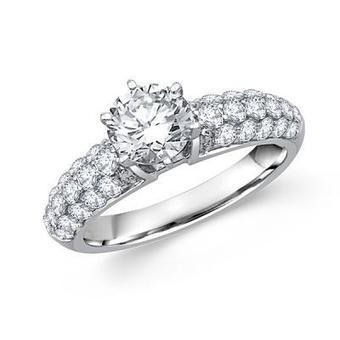 Round Diamond Cathedral Engagement Ring | Diamond Engagement Ring | Scoop.it