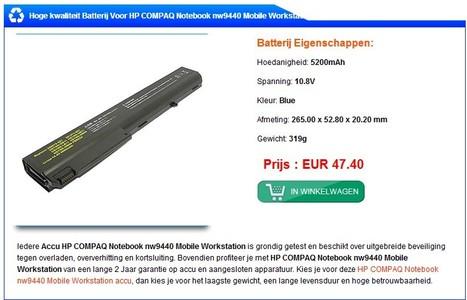 Accu / batterij / Adapter HP COMPAQ NoteBook 8710w , goedkope, 24 maanden garantie. | caccu.nl | Scoop.it