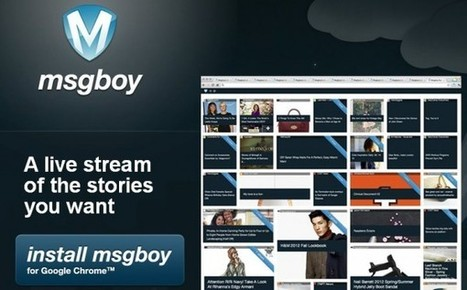 Crea una revista online personalizada con Msgboy, extensión de Chrome | Herramientas digitales | Scoop.it