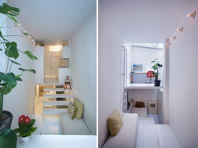 UPDATE: Tiny Apartment in Madrid Packs a Lot in 200 Square Feet and 6'-10 Wide | Espacios Reducidos | Scoop.it