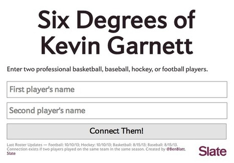 Six Degrees of Kevin Garnett: How Every NBA, NFL and MLB Athlete in History Is Connected | History | Scoop.it
