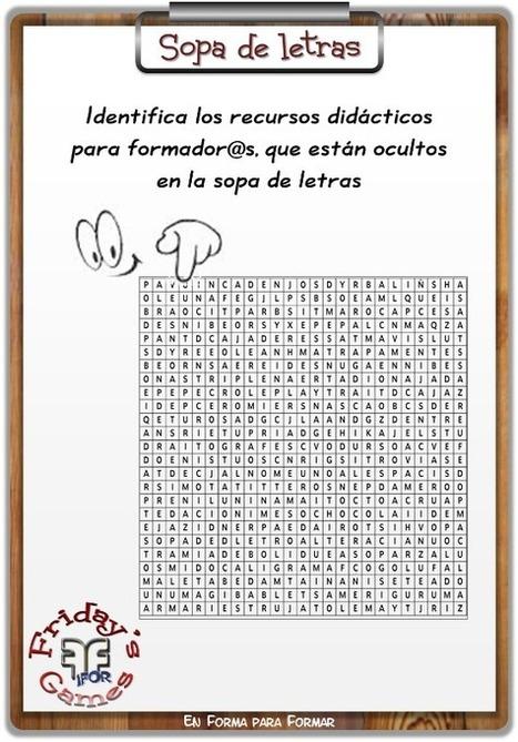 Friday's Game: ¿Te apetece una sopa de letras? | Recursoteca | Scoop.it