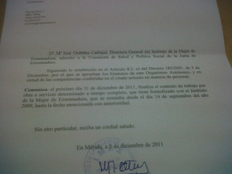 Hoy he firmado la comunicación d fin d contrato: las Oficinas de Igualdad se quedan sin coordinación http://yfrog.com/h286txqj | #hombresporlaigualdad | Scoop.it