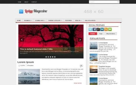 Grunge News Magazine Free Blogger Theme Download | Blogger themes | Scoop.it