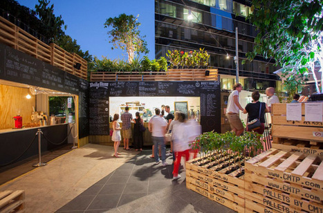 Culture, Coffee & Repurposed Pallets: Urban Coffee Farm and Brew Bar at Melbourne's Food & Wine Festival | green streets | Scoop.it