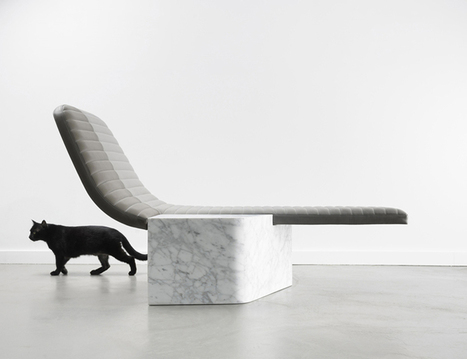 gregoire combines leather + marble in lounge chair opper | Art, Design & Technology | Scoop.it
