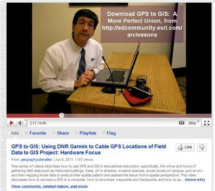 GIS Education: New Series of GPS-to-GIS Videos | AP Human Geography Education | Scoop.it