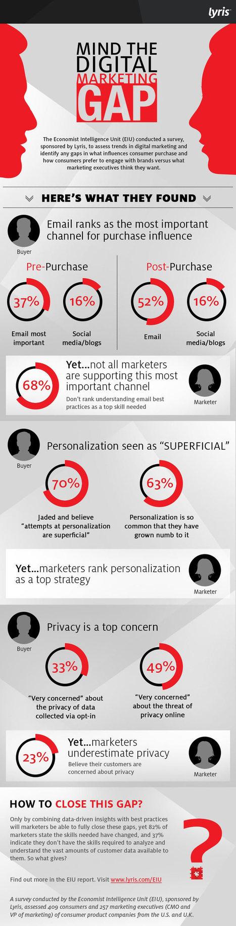 Mind the Digital Marketing Gap [Infographic] - Lyris | #TheMarketingAutomationAlert | Marketing | Scoop.it